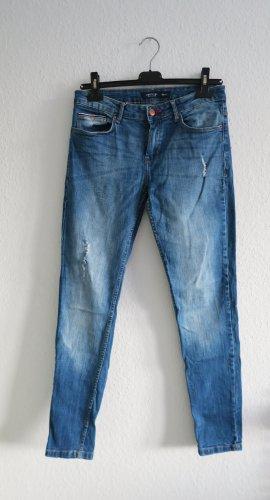Tiffosi Jeans boyfriend bleu-bleu foncé coton