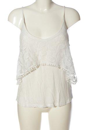 Tiffosi Top z cienkimi ramiączkami biały W stylu casual