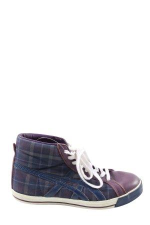 Tiger High Top Sneaker blau-hellgrau Karomuster Casual-Look
