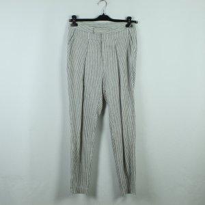 Tiger of sweden Pantalone di lino bianco-argento Tessuto misto
