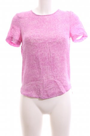 Tiger of sweden Kurzarm-Bluse pink-weiß meliert Casual-Look