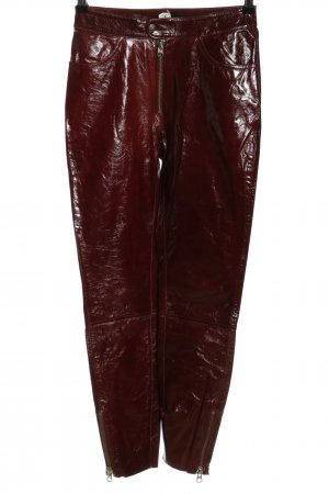 Tiger of sweden Lederhose rot extravaganter Stil