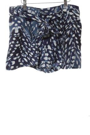 Tiger of sweden Shorts blau-weiß abstraktes Muster Street-Fashion-Look