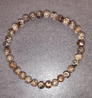 Collier de perles brun-beige