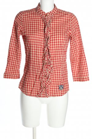 Tigerhill Checked Blouse red-white check pattern casual look