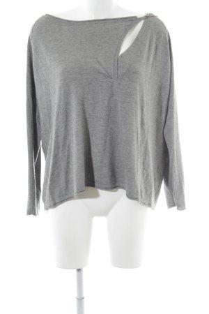 Tigerhill V-Ausschnitt-Shirt grau-hellgrau Casual-Look