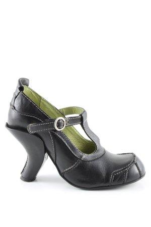 Tiggers Plateauzool pumps zwart extravagante stijl