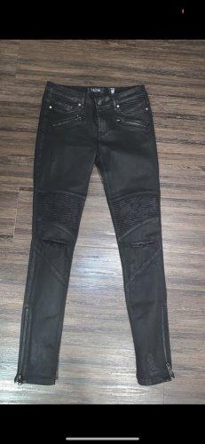 Tigha Jeans de moto noir