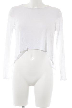 Tigha Cropped Shirt white viscose