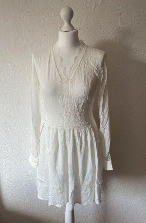 Tigha Damen Kleid weiß mit spitze wie neu