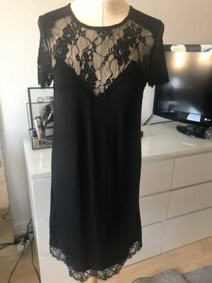 Tigha Koronkowa sukienka czarny-antracyt