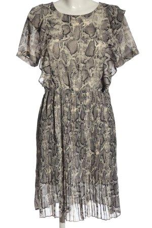 Tigha Shortsleeve Dress light grey-natural white allover print elegant