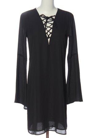 Tigha Langarmkleid schwarz Elegant