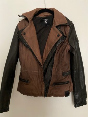 Tigha Leather Jacket brown-black