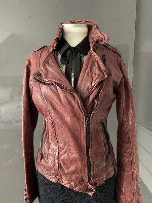 Tigha Biker Jacket brown red