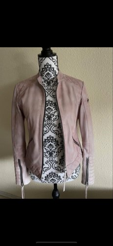 Tigha Leather Jacket pink leather