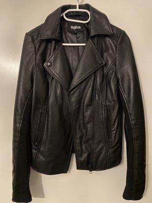 Tigha Lederjacke all Black S NP 399 € Bikerjacke