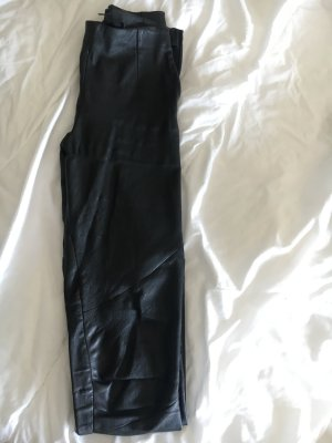 Tigha Pantalón de cuero negro Cuero