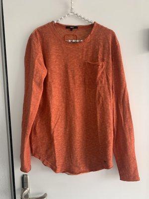 Tigha Longsleeve dark orange cotton