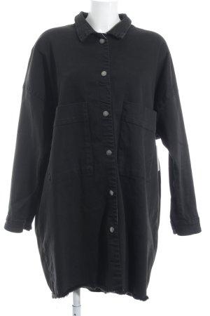 Tigha Oversized Jacke schwarz Casual-Look
