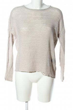 Tigha Oversized Pullover hellgrau-wollweiß meliert Casual-Look