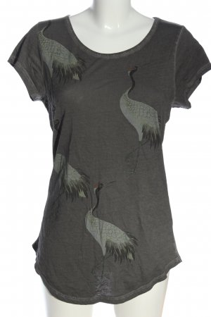 Tigha Print-Shirt hellgrau Motivdruck Casual-Look