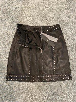 Tigha Leather Skirt black leather