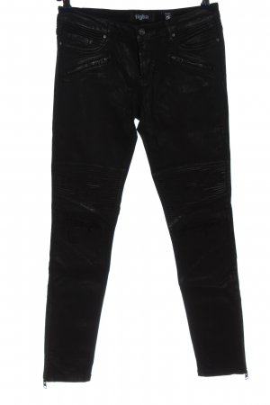 Tigha Drainpipe Trousers black casual look