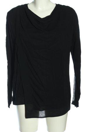 Tigha Schlupf-Bluse schwarz Casual-Look
