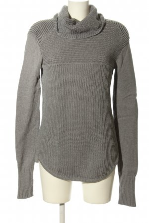 Tigha Strickpullover hellgrau Zopfmuster Casual-Look