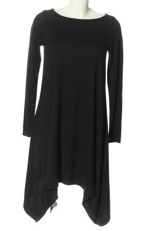 Tigha Robe bas asymétrique noir style décontracté