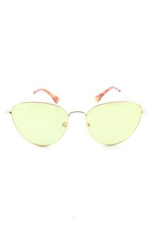 tijn eyewear Retro Brille grün-braun Casual-Look
