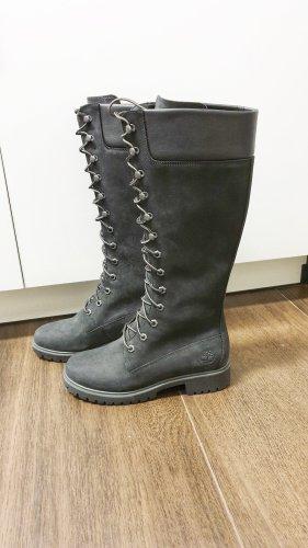 Timberland 14-Inch Stiefel 37,5 schwarz Premium Boots Schnürstiefel Nubukleder Winter Herbst