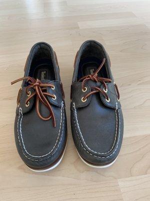 Timberland Zapatos de marinero azul oscuro Cuero