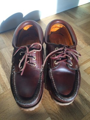 Timberland Sailing Shoes cognac-coloured