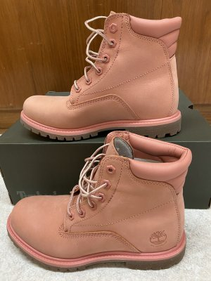 Timberland Bottes à lacets rose