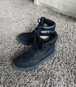 Timberland Bottes à lacets noir