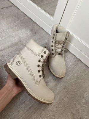 Timberland boots Stiefel Stiefeletten Creme weiß beige grau braun Premium