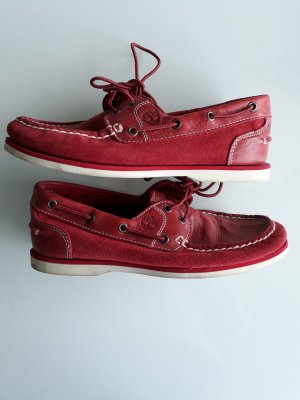 Timberland Sailing Shoes carmine suede