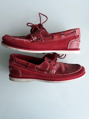 Timberland Zapatos de marinero carmín Gamuza