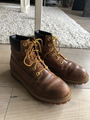 Timberland Buskins cognac-coloured leather