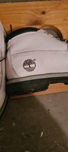 Timberland Aanrijg laarzen wit Leer