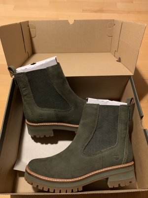 Timberland Chelsea Boots dark green suede