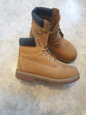 Timberland Winter Boots dark yellow leather