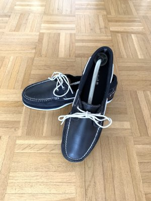 Timberland Sailing Shoes dark blue-white leather