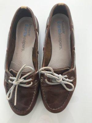 Timberland Zapatos de marinero coñac Cuero