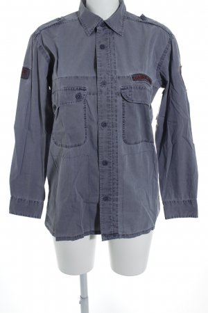 Timberland Hemd-Bluse graublau-dunkelrot Casual-Look