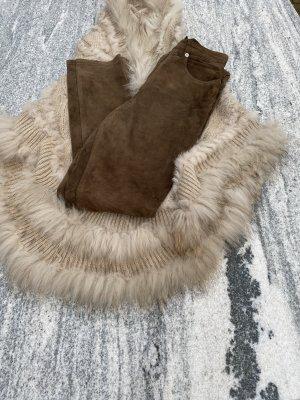Timberland Pantalon en cuir brun