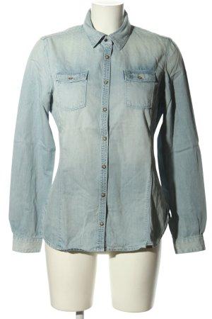 Timberland Chemise en jean bleu style décontracté