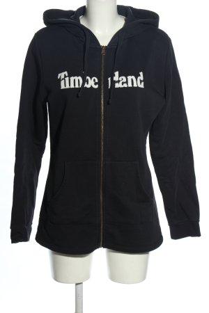 Timberland Veste sweat noir-blanc lettrage imprimé style décontracté